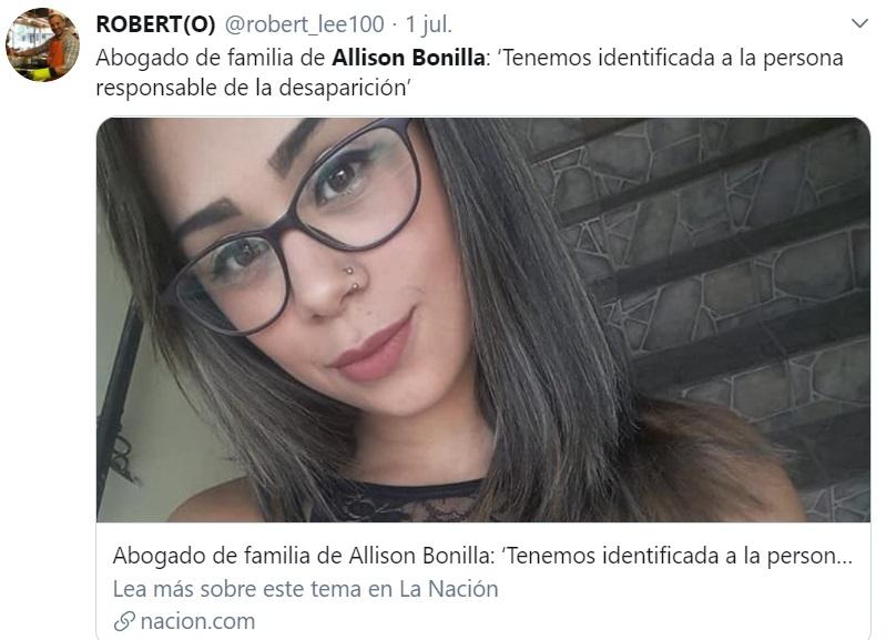 Asesino cuenta cómo mató a Allison Bonilla en Costa Rica