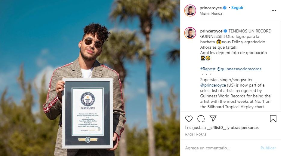 Prince Royce rompe récord Guinness con 'Carita inocente'   Crónica Puebla
